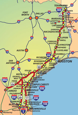 Map Of Texas Highway 77.Alliance For I 69 Rgv Partnership